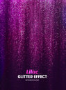 Magic Glitter Background in lilac Color. Poster Backdrop with Shine Elements. Royalty Free Stock Photo