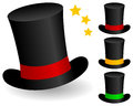 Magic hat icon in three different colors on white background Royalty Free Stock Photos