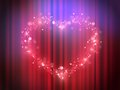 Magic heart lights - Show presentation in heart and love - Glowing theatre light - Heart glowing pink light