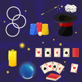 Magic Icon Set,  Illustration. Royalty Free Stock Photo