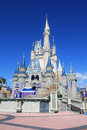 Magic kingdom castle in disney world in orlando beautiful sunny day park Stock Photo