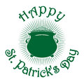 Magic leprechaun pot of gold coins. St. Patricks Day celebration symbol