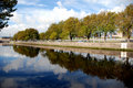 Magic Liffey in a mirror Royalty Free Stock Photography