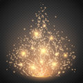 Magic light  effect. Glow special effect light, flare, star and burst. Isolated spark Royalty Free Stock Photo