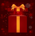 Magic light gift box vector Royalty Free Stock Images