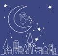 Magic night Royalty Free Stock Photo