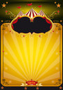 Magic orange circus poster. Stock Image