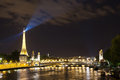 The magic of Paris at night Royalty Free Stock Photo