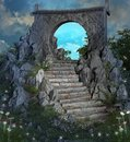 Magic portal in a natural scenery