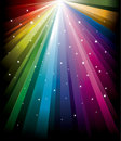 Magic radial Rainbow Stock Images