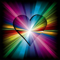 Magic Rainbow heart Royalty Free Stock Photography