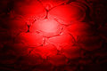 Magic red light over cell surface, unknown science, Stock Photos