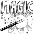 Magic sketch Stock Photography