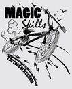 Magic skills t shirt design illustration vector format available Stock Images