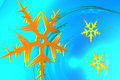 Magic snowflake Royalty Free Stock Photography