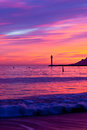 Magic sunset in cannes cote d azur france vertical shot Royalty Free Stock Image
