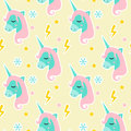 Magic Unicorn seamless pattern. Modern fairytale endless textures, magical repeating backgrounds. Cute baby backdrops