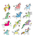 Magic unicorns collection, sketch for your design
