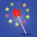 Magic wand colorful illustration with for your design Royalty Free Stock Photography