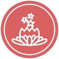 magical flower circular icon