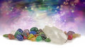 Magical healing crystals Royalty Free Stock Photo