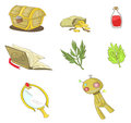 Magical items collection set create by vector Royalty Free Stock Photography