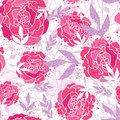 Magical painted roses seamless pattern background vector with hand drawn elements Stock Image