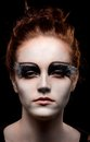 Magical portrait of a young woman with fantasy makeup Royalty Free Stock Image