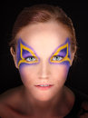 Magical portrait of a young woman with fantasy makeup Royalty Free Stock Photos