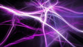 Magical purple energy lightning Royalty Free Stock Photo