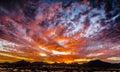 Magical Sunset - Arizona Desert Royalty Free Stock Photo