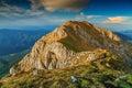 Magical sunset in the high mountains,Piatra Craiului,Carpathians,Romania Royalty Free Stock Photo