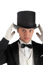 Magician with hat Royalty Free Stock Photo