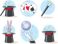Magician icons different for a Stock Photo