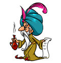 Magician potion cartoon illustration isolated Royalty Free Stock Photo
