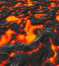 Magma or molten lava Royalty Free Stock Photos