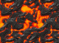 Magma or molten lava Royalty Free Stock Photography