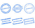 Magnesium stamps Stock Photo