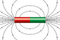 Magnetic field of a bar magnet Royalty Free Stock Photo