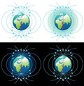 Magnetic field of Earth Stock Images