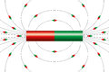Magnetic field lines of a bar magnet Royalty Free Stock Photo