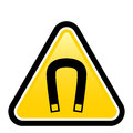Magnetic field warning sign Royalty Free Stock Images
