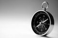 Magnetic handheld compass with copyspace Royalty Free Stock Photo