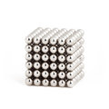 Magnetic metal balls in cube shape Royalty Free Stock Photo