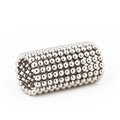 Magnetic metal balls in tube shape Royalty Free Stock Photo