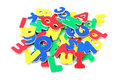 Magnetic plastic letters Royalty Free Stock Photo