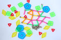 Magnets toy for child brain development Royalty Free Stock Photo