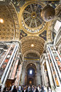 The magnificence of st peter s cathedral in vatican dazzling interior Stock Image