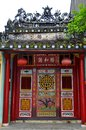 Magnificent chinese old portal hoi an vietnam a handcrafted on the main street Royalty Free Stock Photo