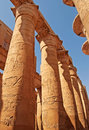 Magnificent columns of the Great Hypostyle Hall Stock Photo